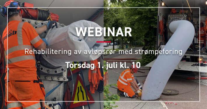 Gratis webinar med Olimb Rørfornying: Strømpeforing avløp