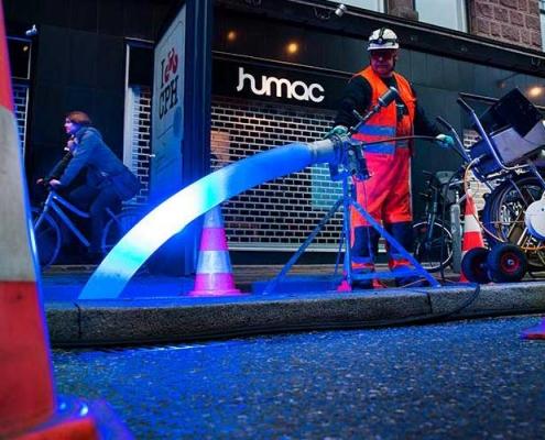 Øker farten på rørfornying med Bluelight LED herdesystem Olimb AS
