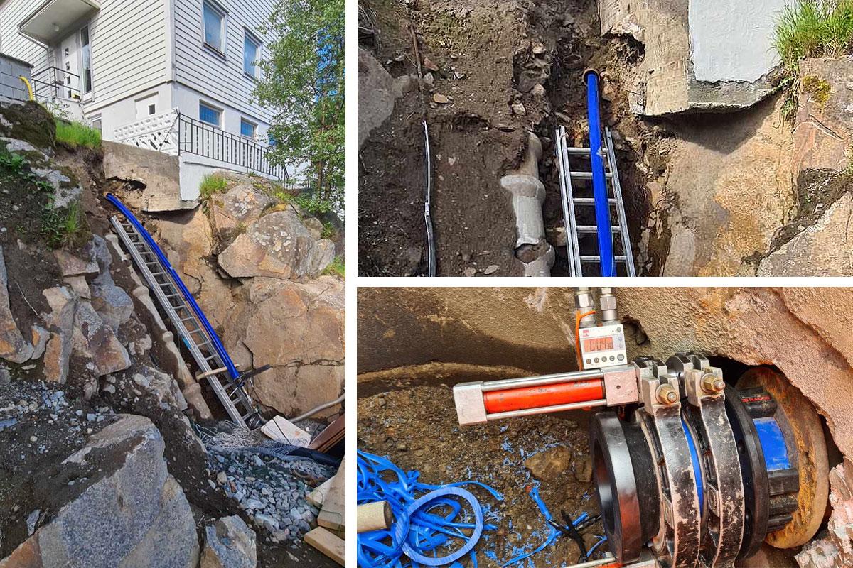 Fornyelse av vannledning i Damsgårdslien i Bergen