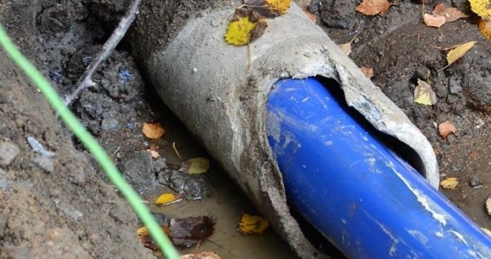 Tettilsluttet rør i gammel vannledning