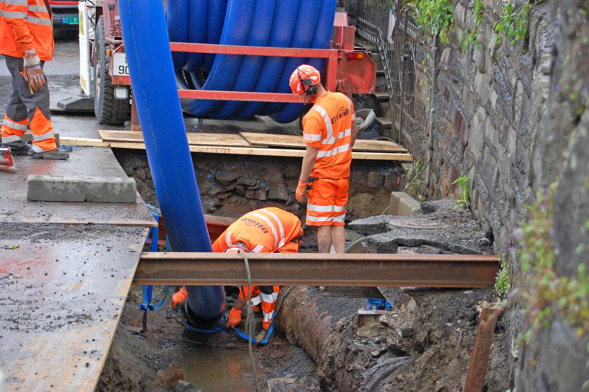 Rørfornying av vannledning, Bergen