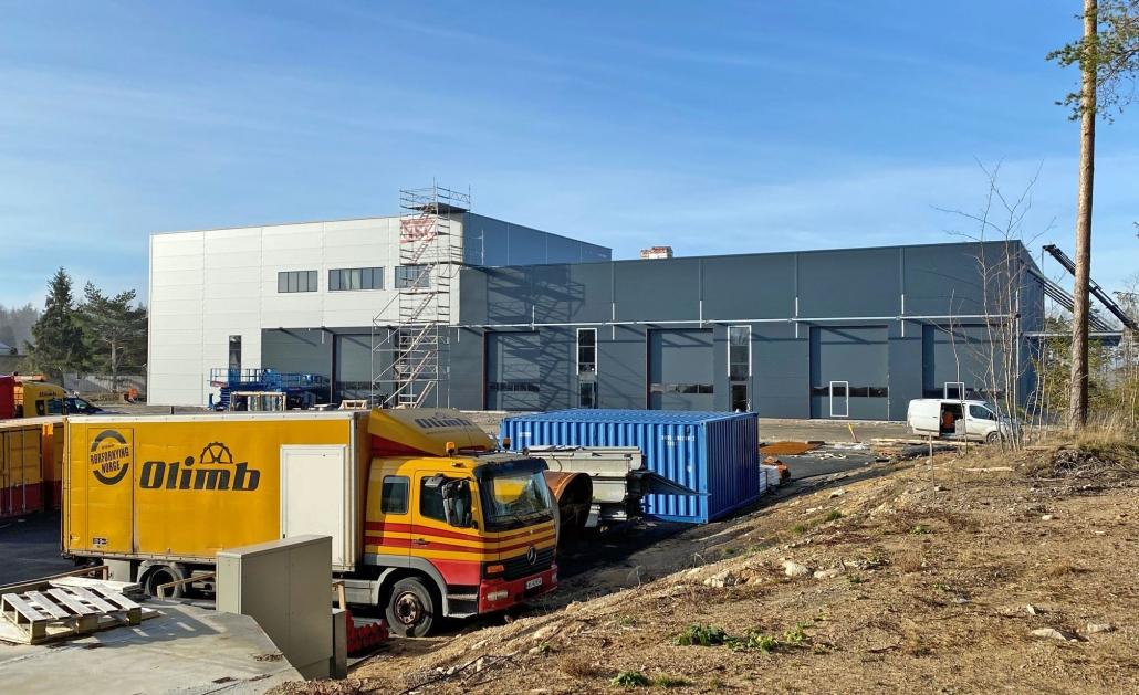 Olimb Rørfornyings nye lagerbygg i Råde