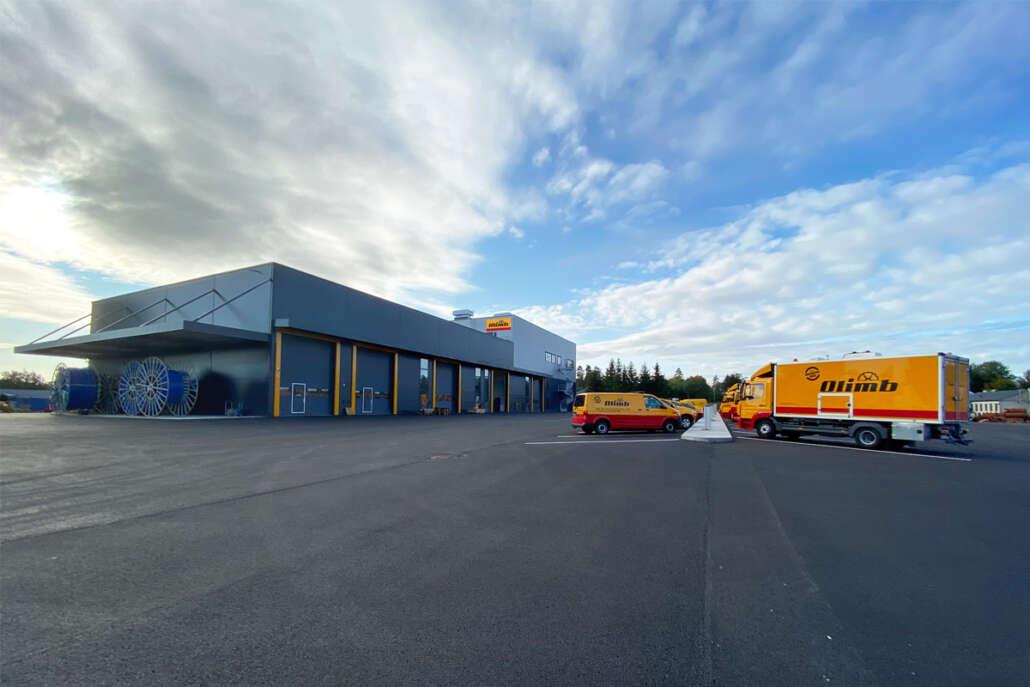Olimb Rørfornyings nye lagerbygg ble tatt i bruk i august 2020