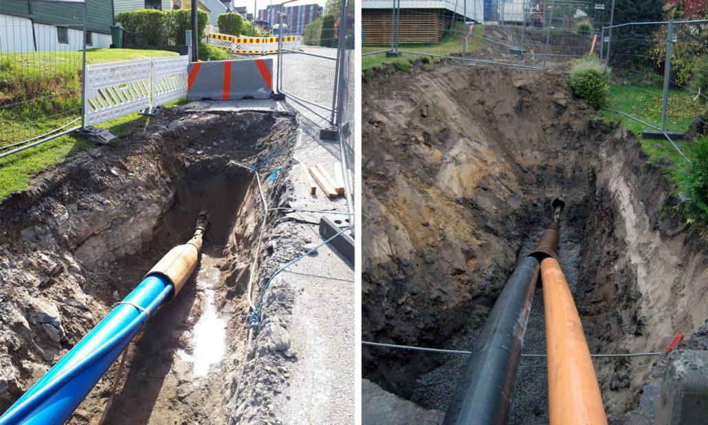 Utblokking vannledninger i Porsgrunn kommune