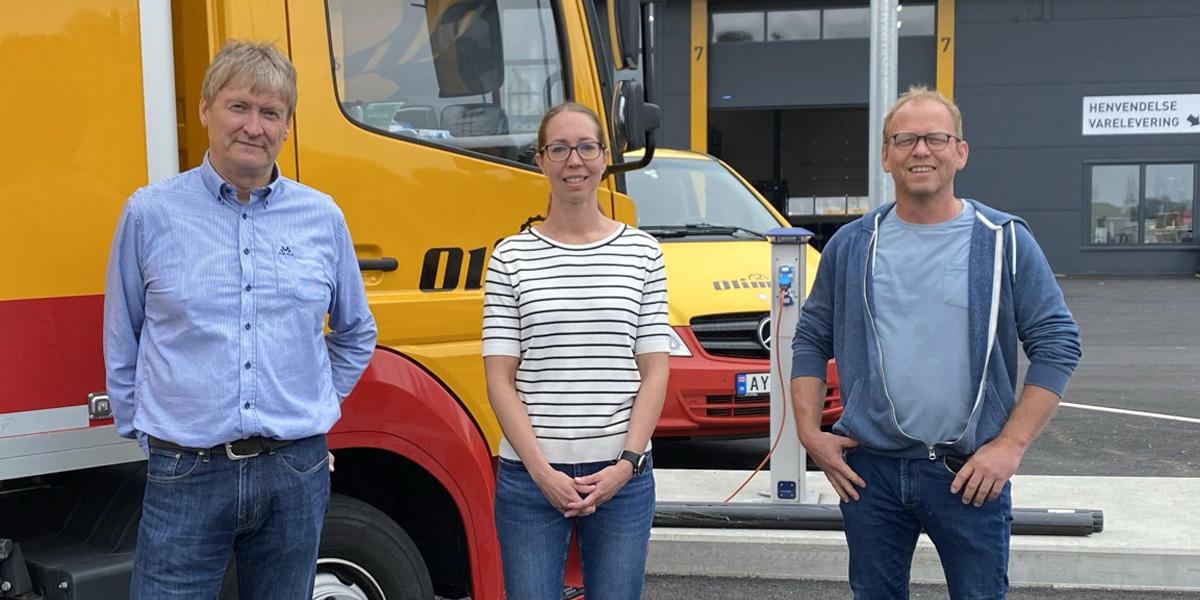 Roar Haugland, Anna-Karin Eriksson og Svein Rune Myhre i Olimb Rørfornying