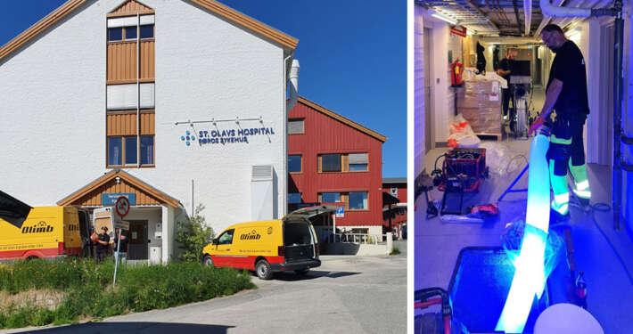 Fornyet bunnledningene under Røros sykehus