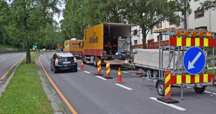 Gravefrie metoder stanser ikke trafikken