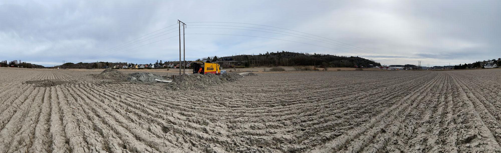 Rehabilitering av vannledning under jorder på Gressvik