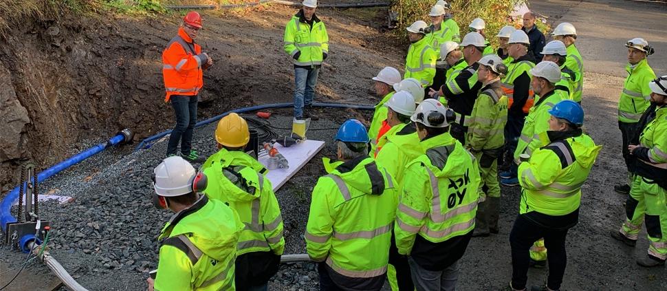 Befaring rehabilitering vannledning Bergen